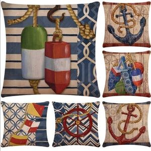 Anchor and Rudder Nautical Pillow Covers